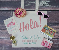 Hola Destination Wedding Tote Bag