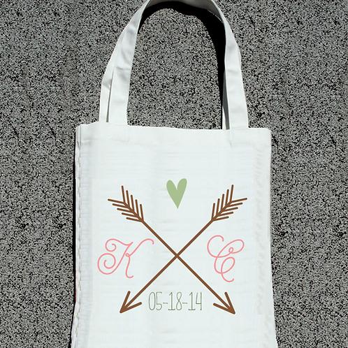 Modern Arrow Wedding Welcome Tote Bag
