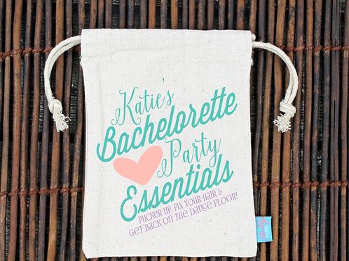 Pucker Up Bachelorette Essentials Favor Bag
