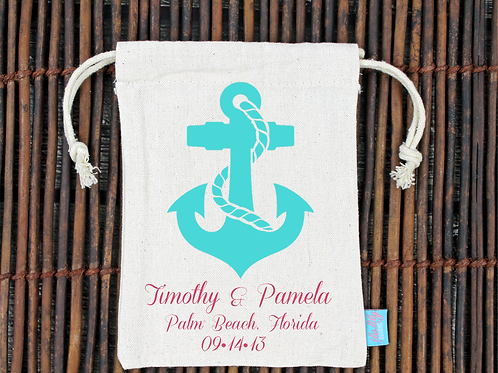 Anchor Destination Wedding Welcome Favor Bag