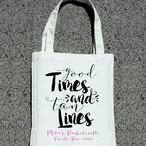 Good Times + Tan Lines Bachelorette Tote