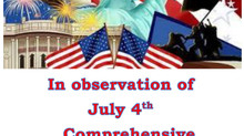 CLOSED Monday, July 5th!