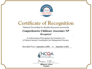 PCMH Recognition for Both Locations!