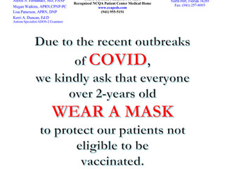 Masks Required Until Further Notice