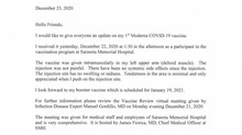 A Letter From Dr. Featherman, COVID-19 Vaccine
