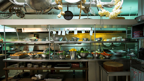 Chinese Retaurant Kitchen; dressed location; photo J.Shapiro
