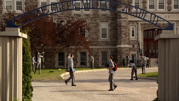 Military School Exterior; retrofitted, dressed location