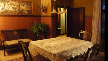 Farmhouse Dining Room; retrofitted, dressed location