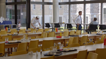 Military School Cafeteria; dressed location