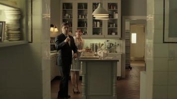 Mansion Kitchen; retrofitted, dressed location
