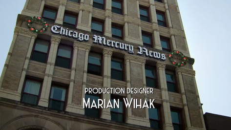 Chicago Mercury Newspaper Exterior; opening credit