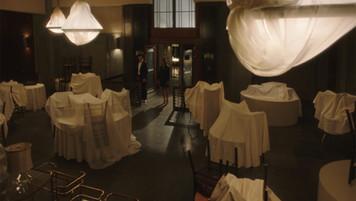 Desmond's Dept Store Shuttered Tea Room; retrofitted, dressed studio set