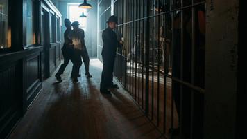 Police Lockup; set built on location; photo E.Zachanowich
