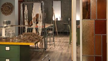Macrame Workroom; studio set