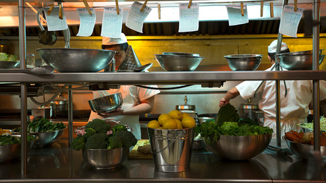 Chinese Restaurant Kitchen; dressed location; photo J.Shapiro
