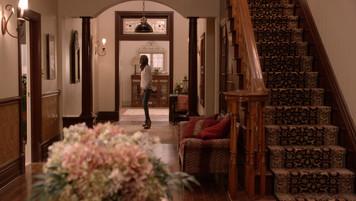 Grey House Foyer; studio set