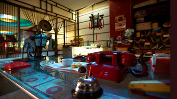 Chinese Restaurant Office; retrofitted, dressed location; photo J.Shapiro