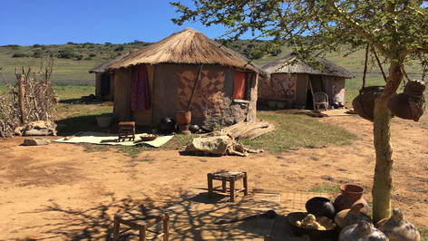 South African Khosa Village; painted, dressed Cape Town location