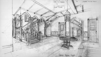Zack Files(TV series), Horace Hyde School; designer's sketch