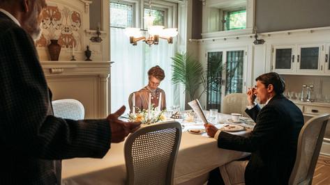 Mansion Breakfast Room; retrofitted, dressed location; photo E.Zachanowich