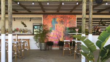 Custom Mural in Cape Town Restaurant; retrofitted, dressed Cape Town location