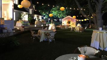 California Wedding Reception; retrofitted, dressed Ontario location
