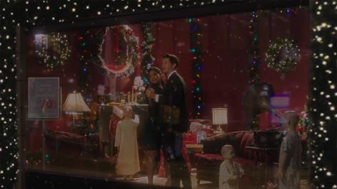 Desmond's Dept Store Christmas Window; studio set