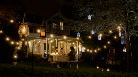 Home Exterior with Lanterns; dressed location