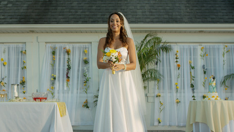 California Wedding; dressed location