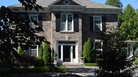 Grey House Exterior; location
