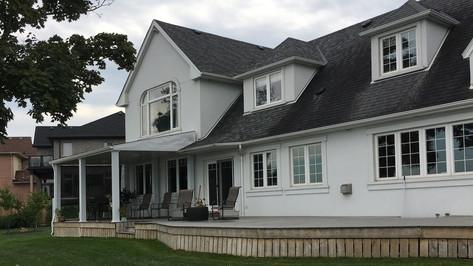 California Beach House; Ontario location before retrofit