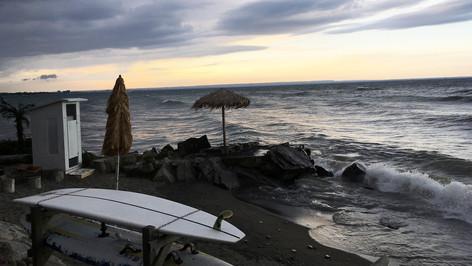 California Beachfront; retrofitted, dressed Ontario location