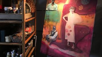 Artist's Porch Studio; retrofitted, dressed location