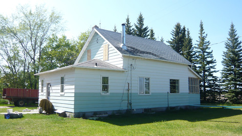 Farmhouse Exterior; location before retrofit