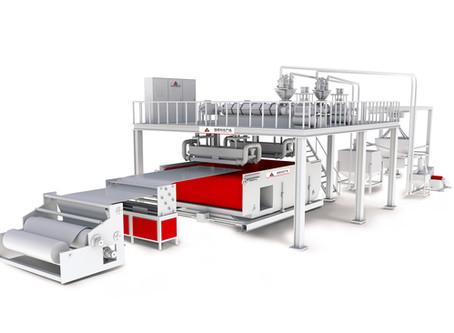 2400mm double spray melt blown cloth production line