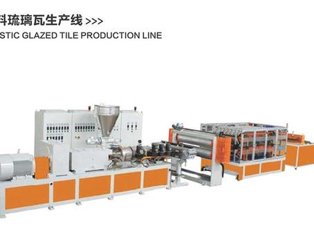 Plastic glazed tile production machinery