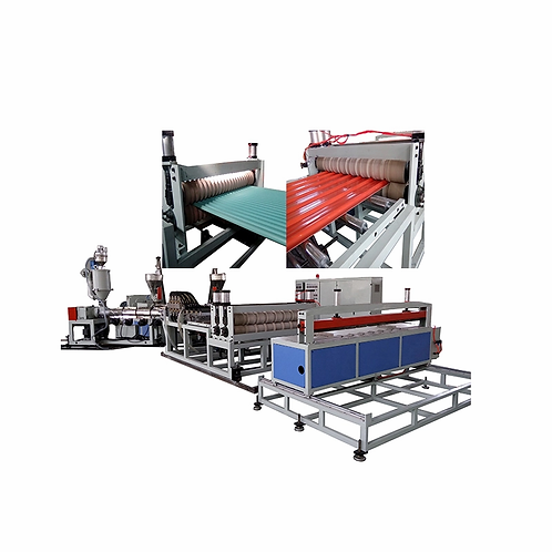 Corrugated tile production line
