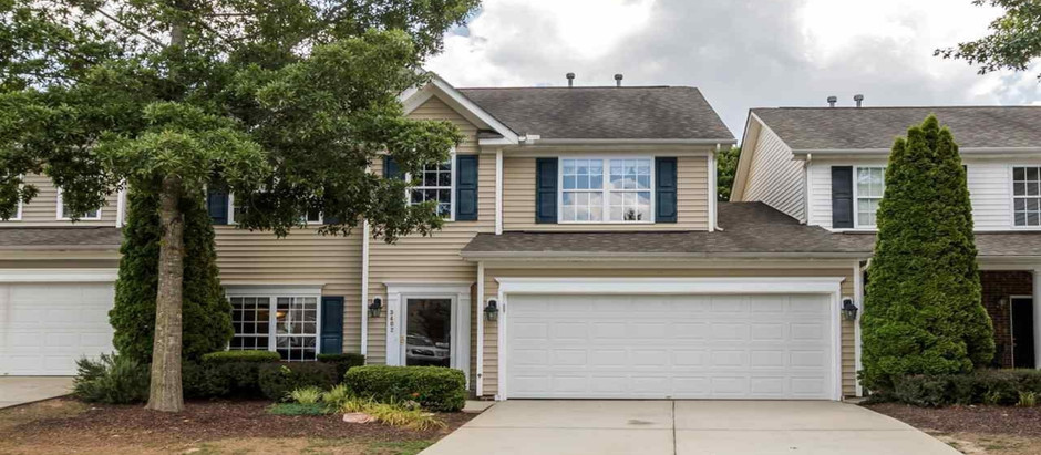 TOP 5 RALEIGH TOWNHOMES UNDER $350,000