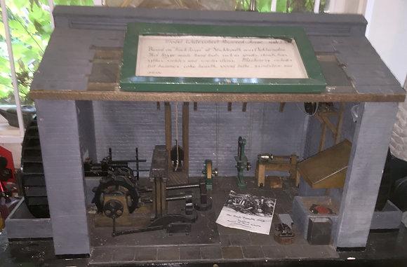 Historic Model Display of Working Blacksmith's Shop