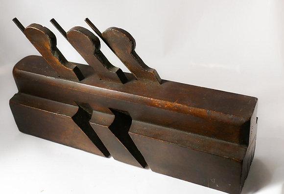 Mathieson triple-iron moulding plane