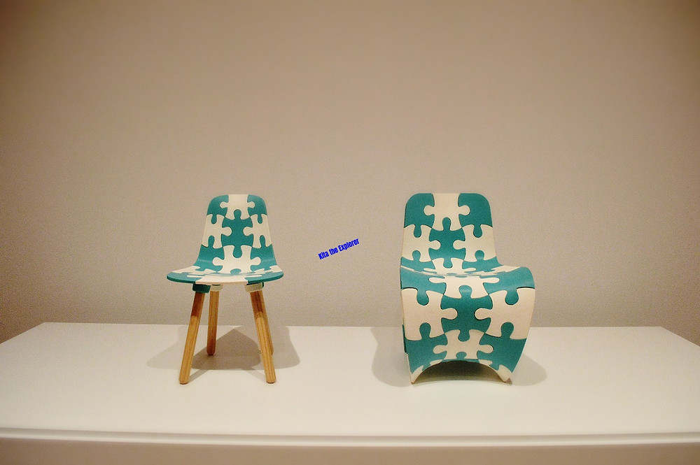 Puzzle Kids Chair, 2014 3-D Printed