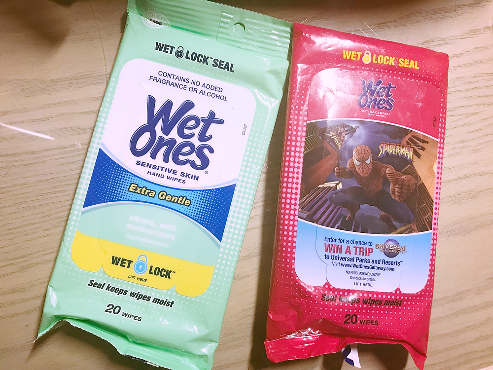 Picture of Wet Ones wipe packs by Kita the Explorer