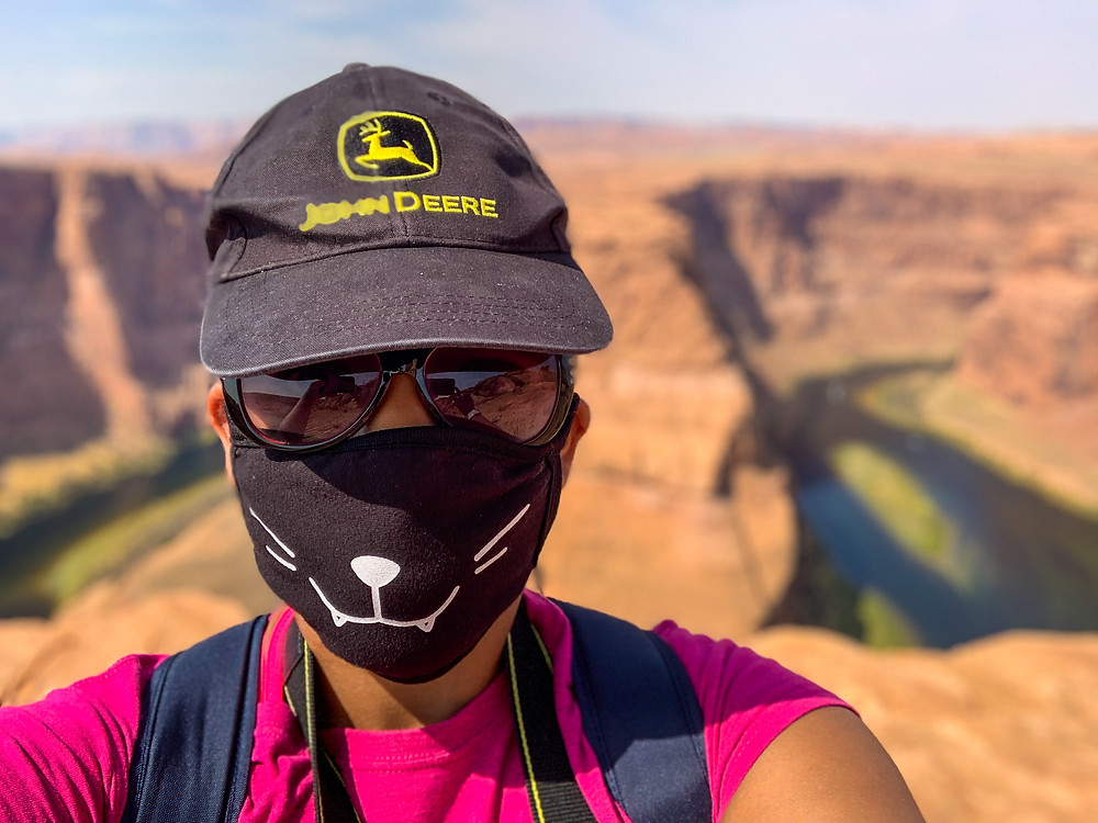 Kita the Explorer at Horseshoe Bend