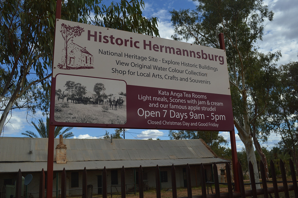 Welcome Sign to Historic Hermannsburg by Kita the Explorer