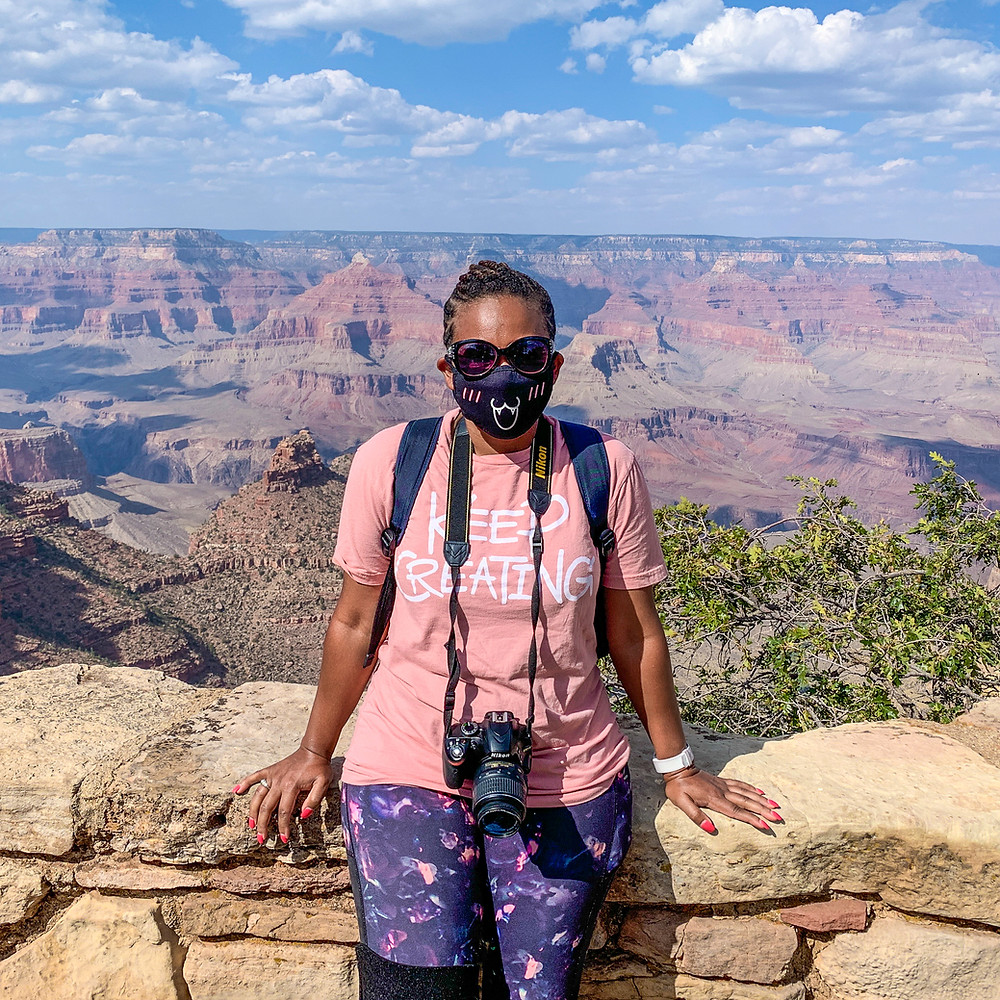 Kita the Explorer at the Grand Canyon
