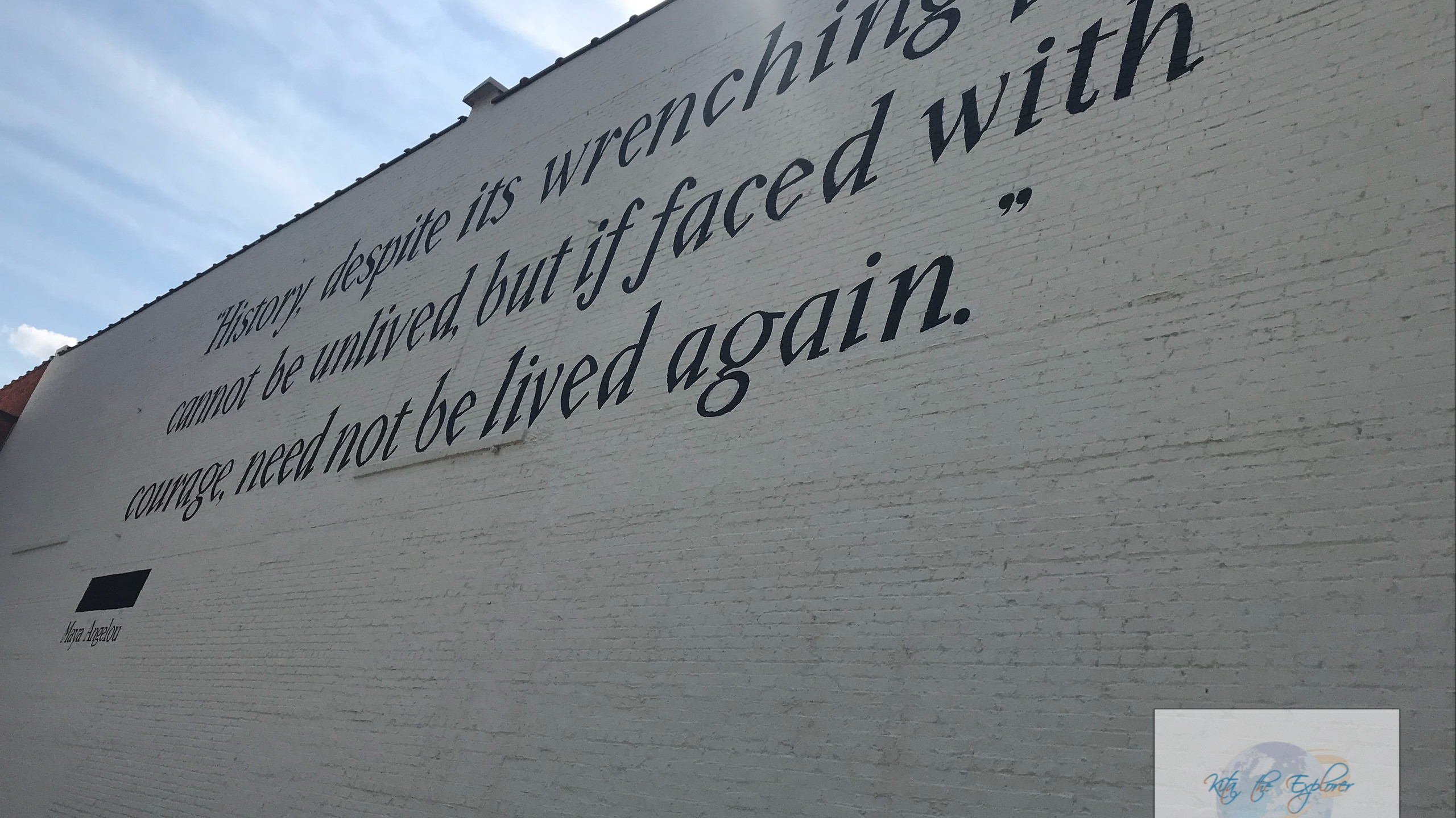 Quote on the side of Legacy Museum