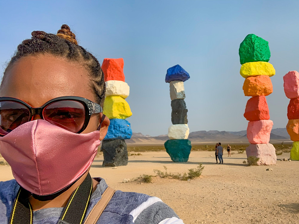 Kita the Explorer at Seven Magic Mountains