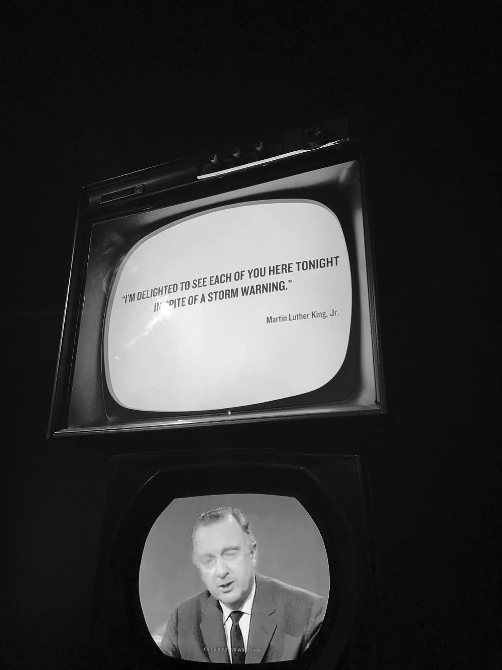 TV Displays announcing Dr. King's Death - Center for Civil and Human Rights