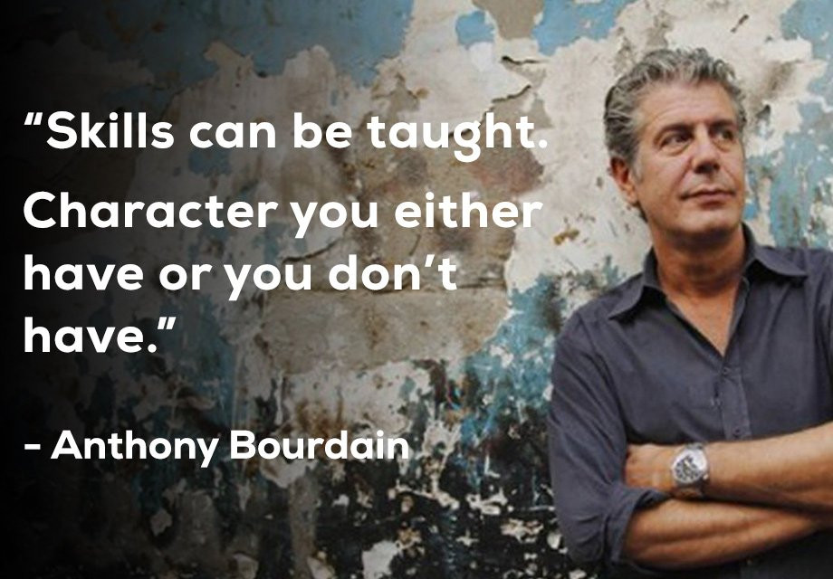Anthony Bourdain & quote from activerain.com