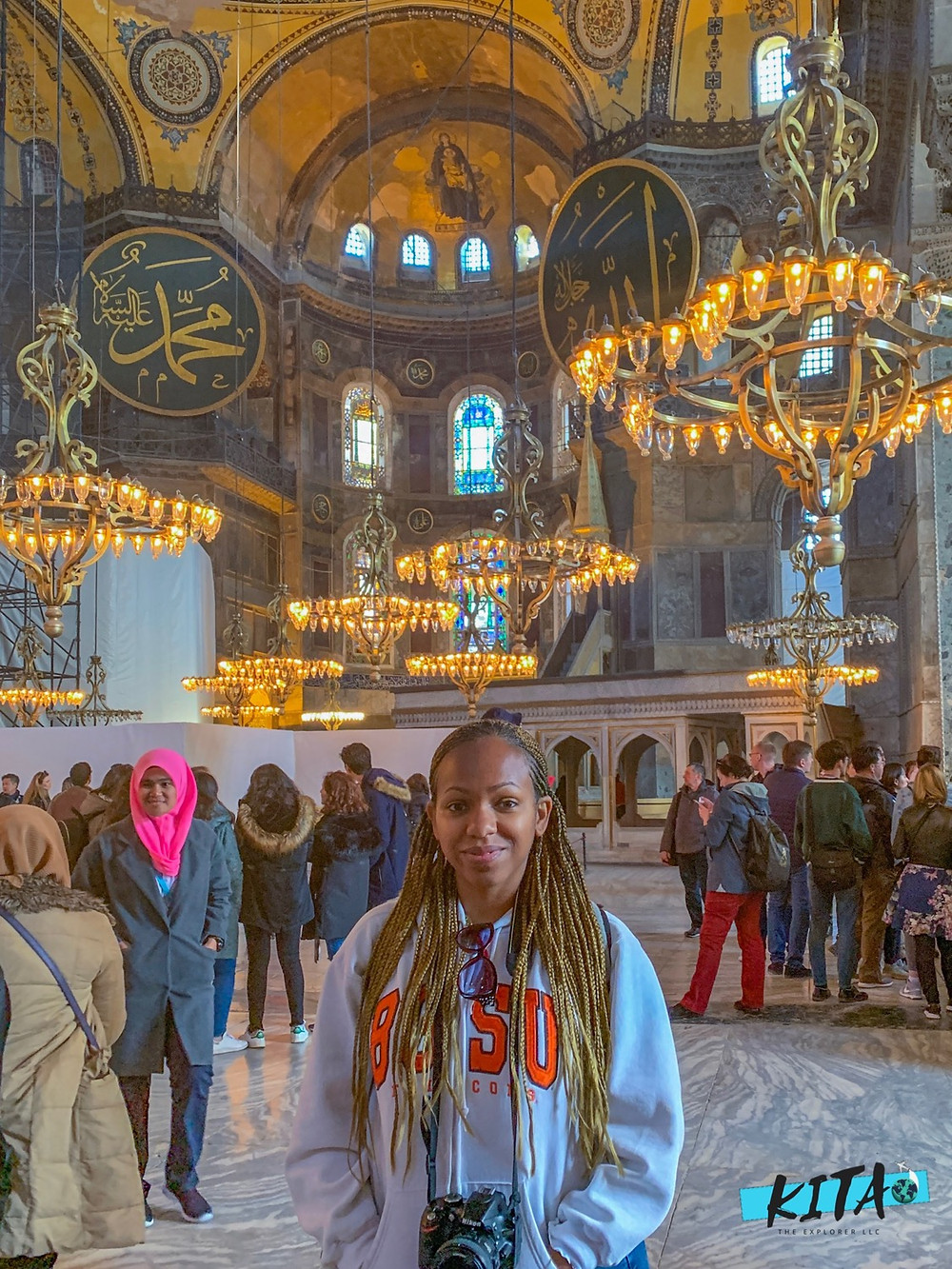Photo of me inside the Hagia Sophia